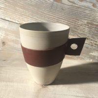 tasse céramique Grès et cuir